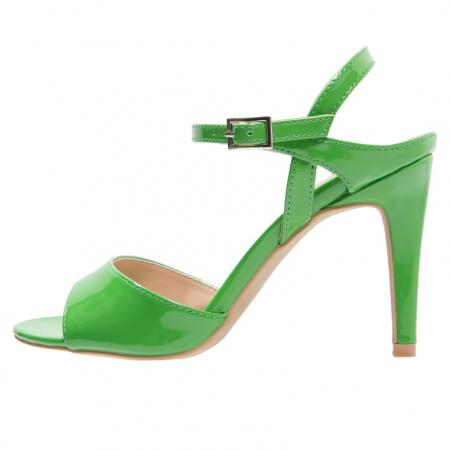 Groene sandalen met hoge hak