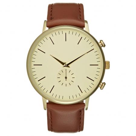 Horloge met bruine band