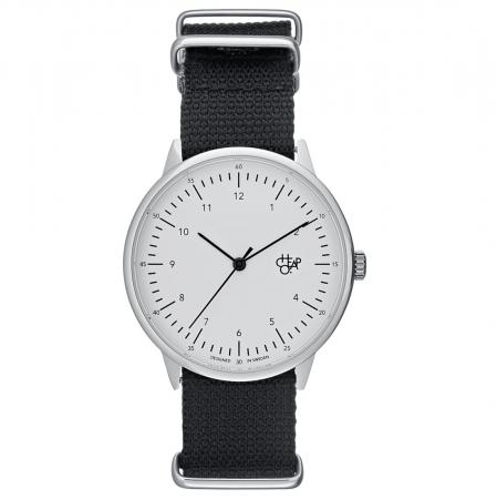 Horloge met zwarte band
