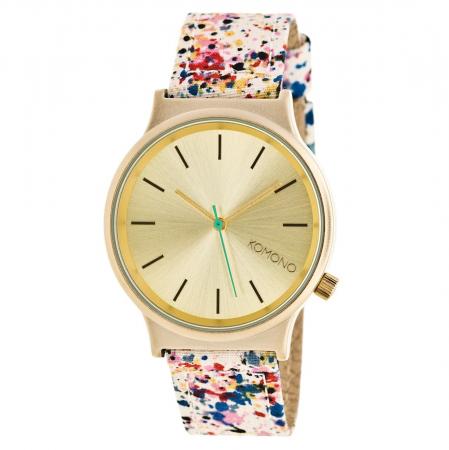 Horloge met band met bloemenprint