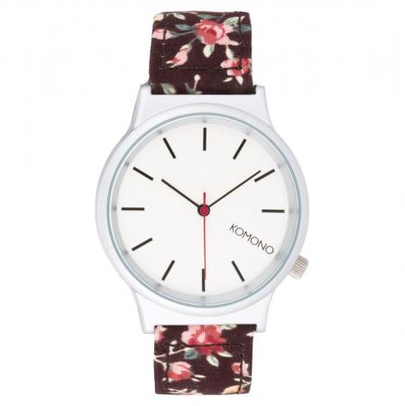 Horloge met gebloemde band
