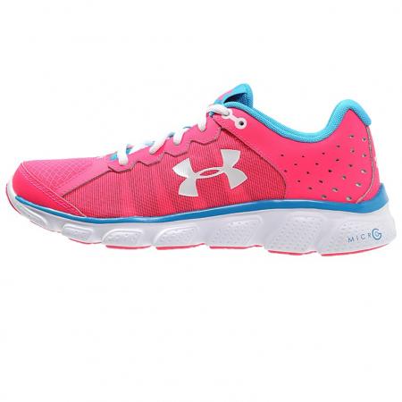 Roze loopschoenen met blauw accent