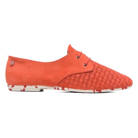 Koraalkleurige schoenen