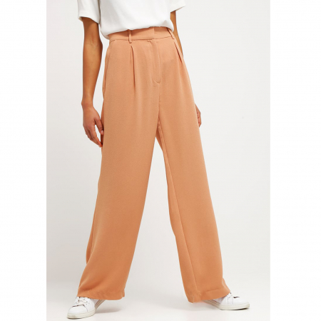 Koraalkleurige pantalon