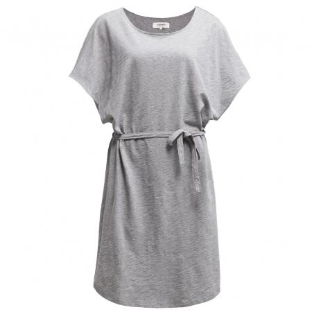 Grijze jurk met strik