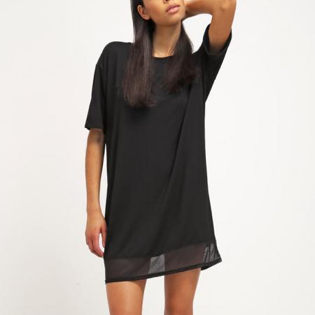 Zwarte jurk met transparante onderkant