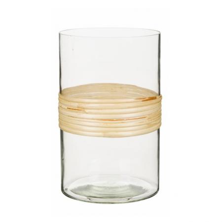 Theelichthouder van glas