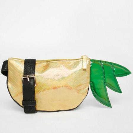 Gouden ananasbuideltasje