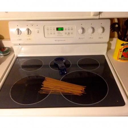 Spaghetti op het vuur