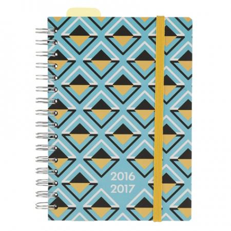 Agenda met geometrische print