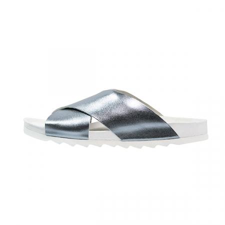 Zilverkleurige slippers