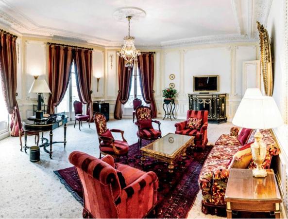 Eén van de vele luxueuze suites