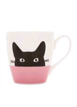 Mok met zwarte kat