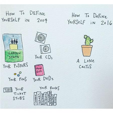 Illustraties over het leven als grown up