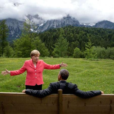 Obama et Angela Merkel lors du G20