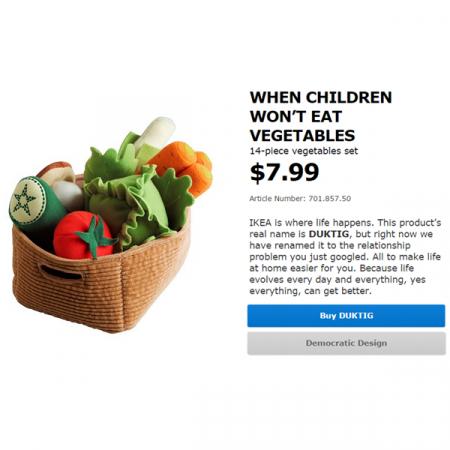 WHEN CHILDREN WON'T EAT VEGETABLES