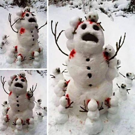 Originele sneeuwmannen