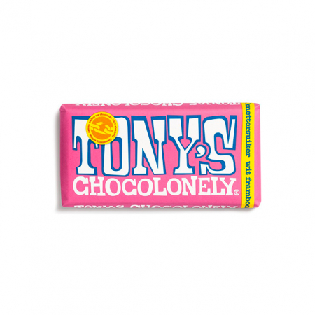 Tony's Chocolonely wit-framboos-knettersuiker