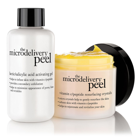Microdelivery peel