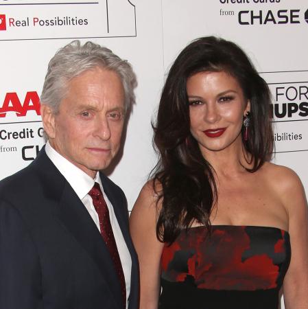 Michael Douglas (72) & Catherine Zeta-Jones (47)