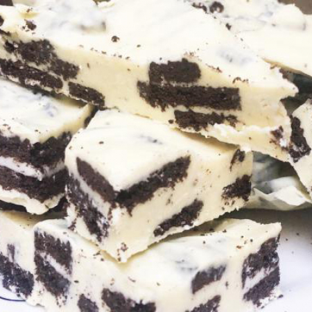 Oreo bark met witte chocolade