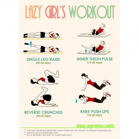 Work-out voor lazy girls