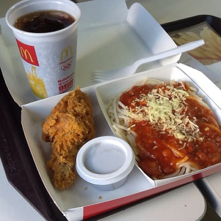Kip met McSpaghetti