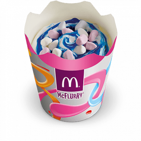 McFlurry met bubblegumsiroop en minimarshmallows