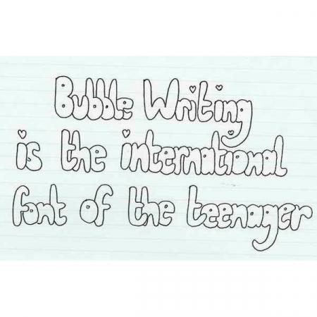 Dagen oefenen om beter te zijn in <em>bubble writing</em> dan je klasgenootjes