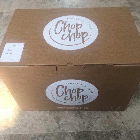 De Chop Chop-foodbox werd aan huis geleverd op een dag naar keuze.