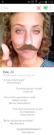 Hilarische Tinderprofielen
