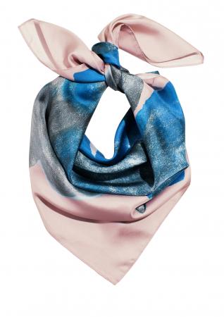 Blue silk scarf – 49 euro