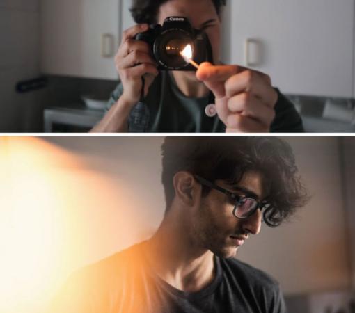 Met een lucifer staat je foto letterlijk on fire!