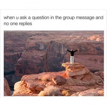 Wanneer niemand antwoordt op je vraag…