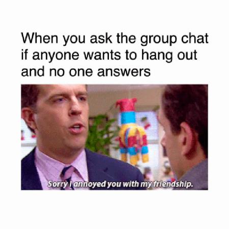 Wanneer je vraagt om iets te gaan doen en niemand antwoordt…