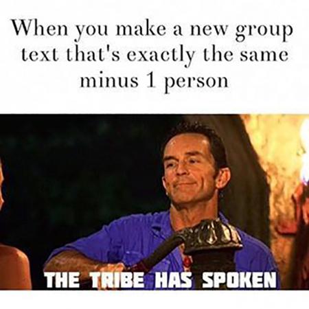 Wanneer je een nieuw groepsgesprek maakt zonder die ene persoon…