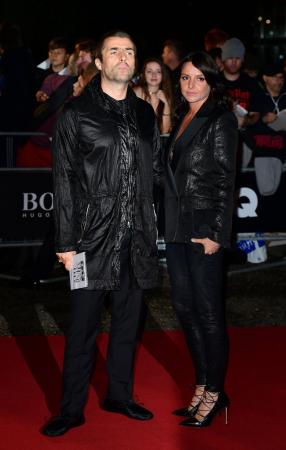 Liam Gallagher met zijn vriendin Debbie Gwyther