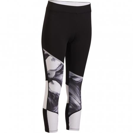 Domyos Gamme 500 – legging gris et blanc