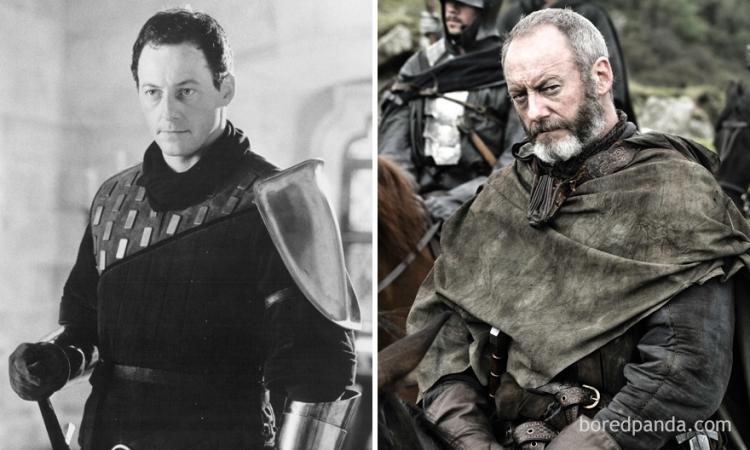 Liam Cunningham in 'First Knight' en als Ser Davos