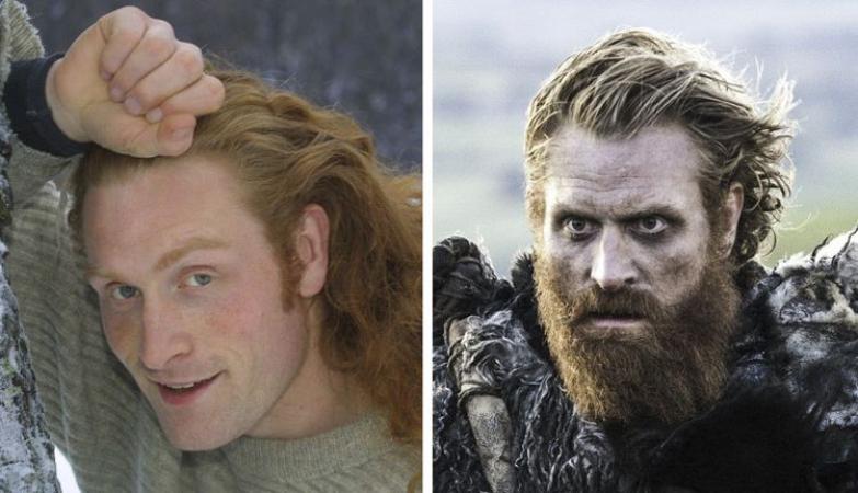Een jonge Kristofer Hivju en als Tormund Giantsbane