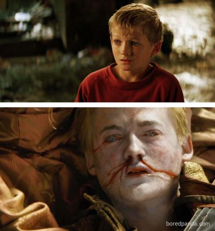Jack Gleeson in 'Batman Begins' en als Joffrey Baratheon