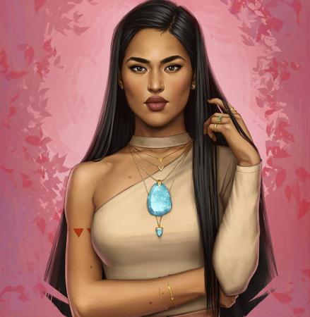 De moderne Pocahontas.