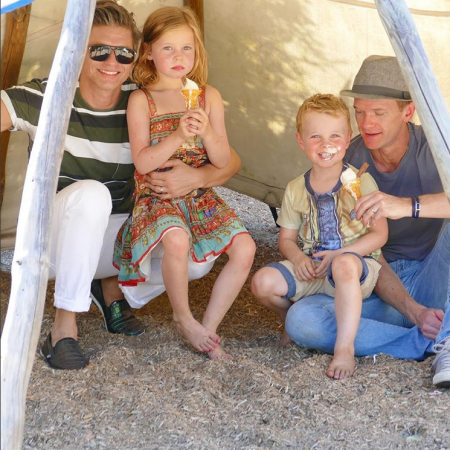 Harper en Gideon, het dochtertje en zoontje van Neil Patrick Harris en David Burtka