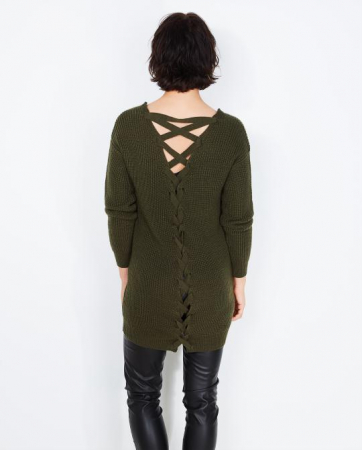 Pull en tricot lace-up