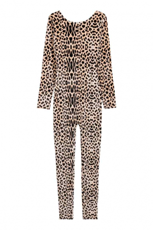 Velours verkleedpak luipaard