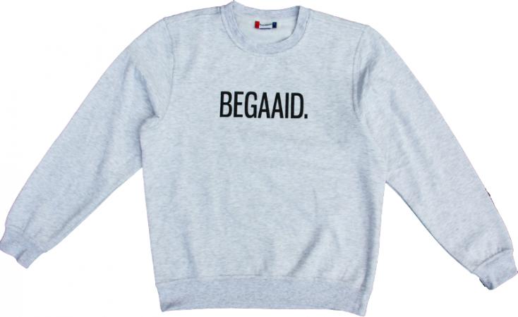 Grijze sweater 'BEGAAID.'