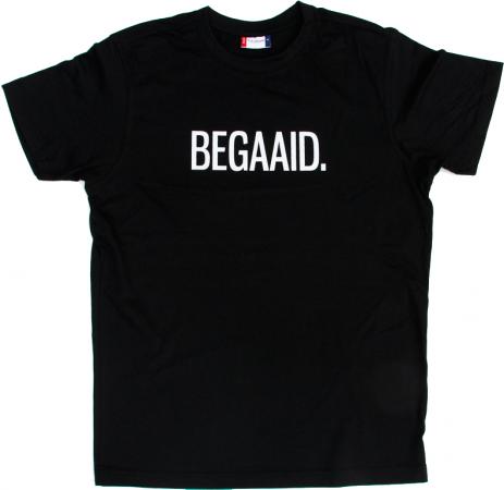 Zwart T-shirt 'BEGAAID.'