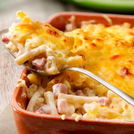 Donderdag: macaroni met ham en kaas