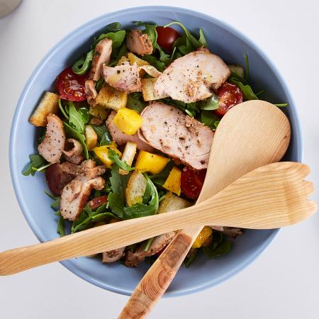 Woensdag: salade met kip en mango