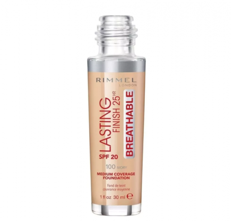 Rimmel Lasting Finish 100 Ivory Breathable Foundation